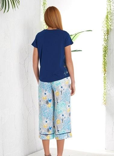 Gizzey Pijama Takım Lacivert